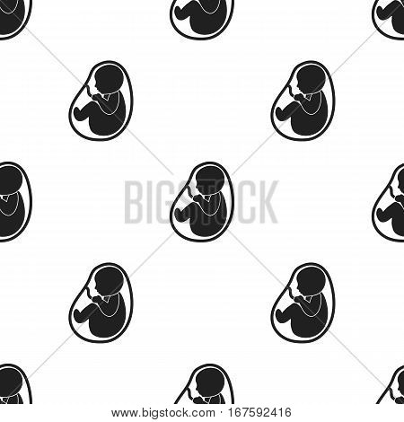 Fetus icon in black style isolated on white background. Pregnancy pattern vector illustration. - stock vector