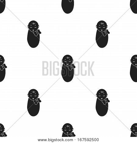 Infant icon in black style isolated on white background. Pregnancy pattern vector illustration. - stock vector