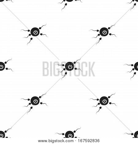 Fertilization icon in black style isolated on white background. Pregnancy pattern vector illustration. - stock vector