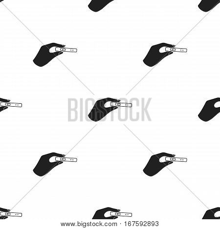 Pregnancy test icon in black style isolated on white background. Pregnancy pattern vector illustration. - stock vector