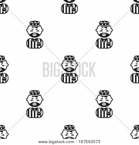 Prisoner black icon. Illustration for web and mobile. - stock vector