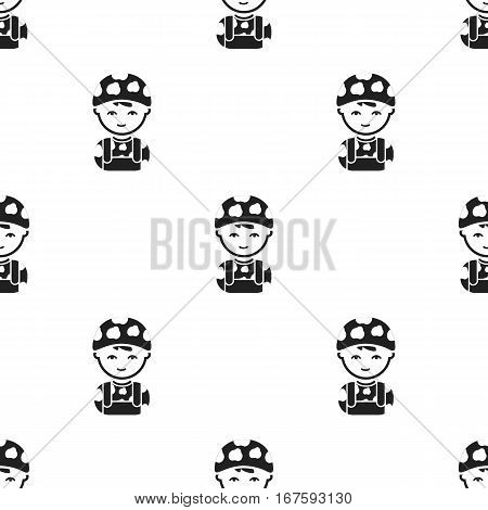 Soldier black icon. Illustration for web and mobile. - stock vector