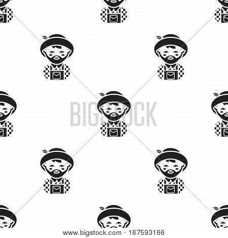 Farmer black icon. Illustration for web and mobile. - stock vector