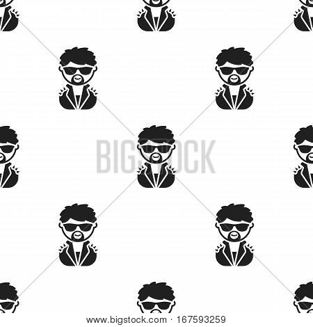 Rock star black icon. Illustration for web and mobile. - stock vector