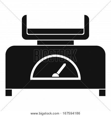 Weight scale icon. Simple illustration of weight scale vector icon for web