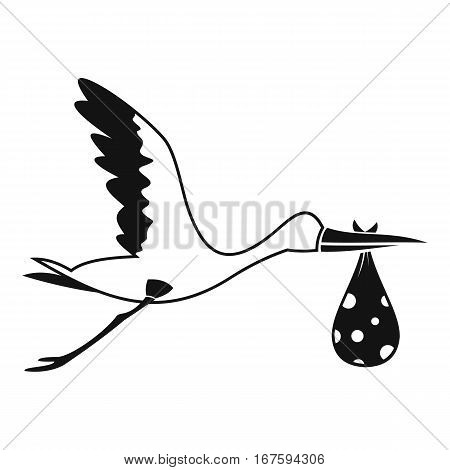 Stork carrying icon. Simple illustration of stork carrying vector icon for web
