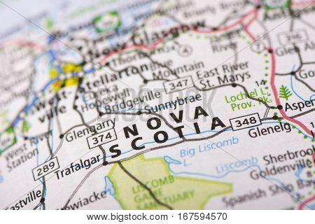 Nova Scotia On Map