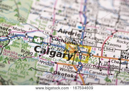 Calgary, Canada On Map