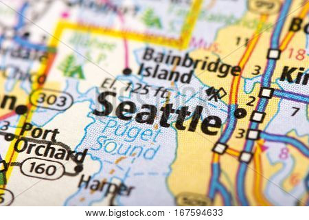 Seattle, Washington On Map