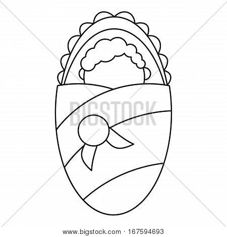Newborn baby icon. Outline illustration of newborn baby vector icon for web
