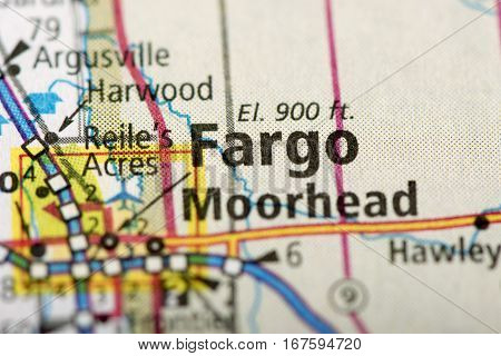 Fargo, North Dakota On Map
