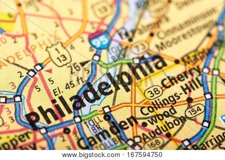 Philadelphia, Pennsylvania On Map