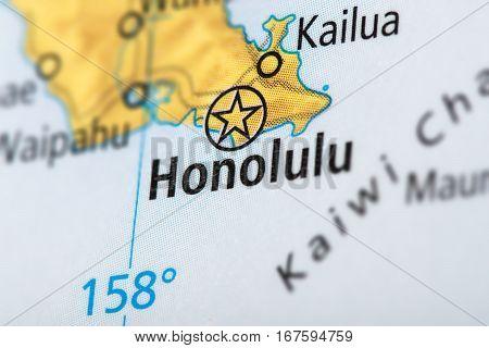 Honolulu, Hawaii On Map