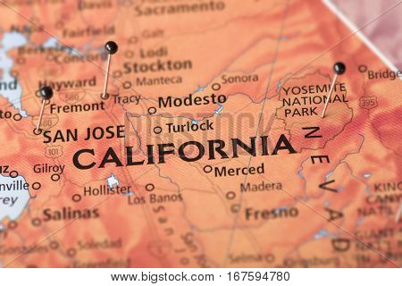 California On Map