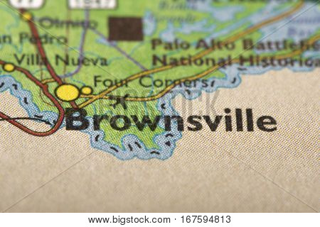 Brownsville, Texas On Map