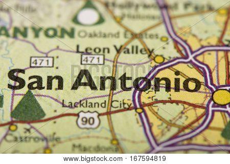 San Antonio On Map