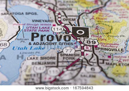 Provo, Utah On Map
