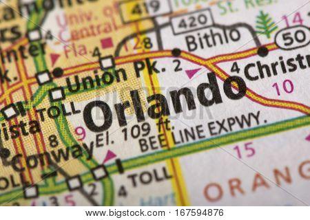 Orlando, Florida On Map
