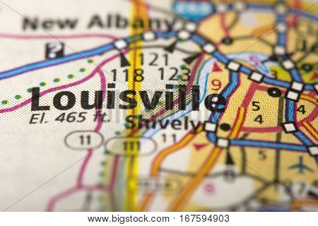 Louisville, Kentucky On Map