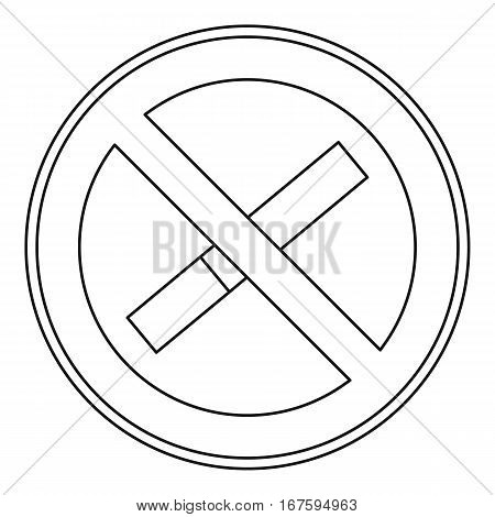 No smoking sign icon. Outline illustration of no smoking sign vector icon for web