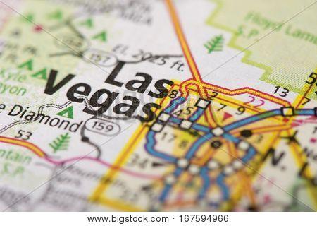 Las Vegas, Nevada On Map
