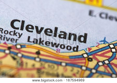 Cleveland, Ohio On Map
