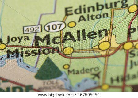 Mcallen, Texas On Map