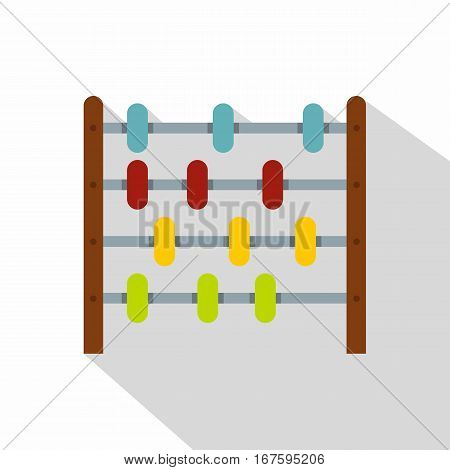 Children abacus icon. Flat illustration of children abacus vector icon for web