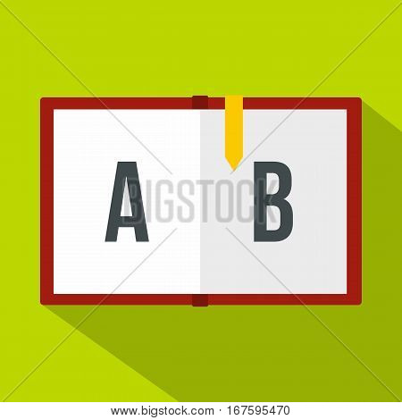 Children abc icon. Flat illustration of children abc vector icon for web
