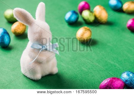 Colourful Easter Eggs In Metallic Wrapping