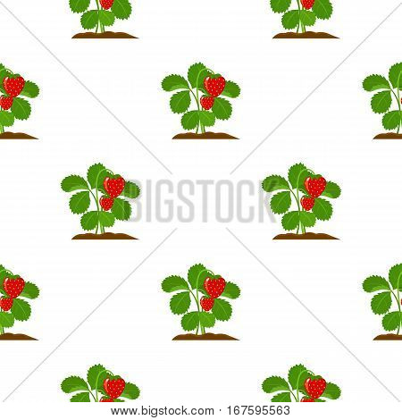 Strawberry icon cartoon. Single plant icon from the big farm, garden, agriculture cartoon. - stock vector