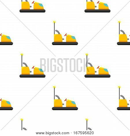 Bumper car icon in cartoon style isolated on white background. Play garden pattern vector illustration. - stock vector