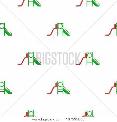Playground slide icon in cartoon style isolated on white background. Play garden pattern vector illustration. - stock vector