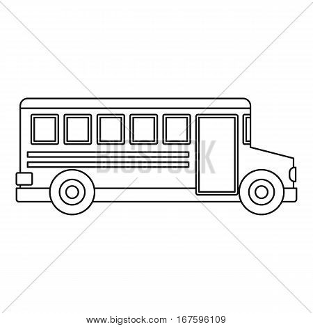 School bus icon. Outline illustration of school bus vector icon for web