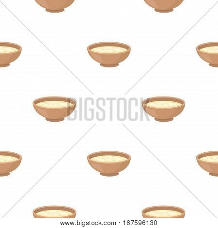 Miso soup icon in cartoon style isolated on white background. Sushi pattern vector illustration. - stock vector