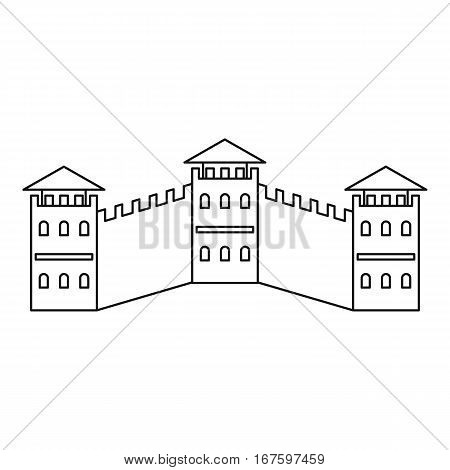 The Great Wall icon. Outline illustration of the Great Wall vector icon for web