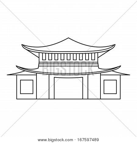 Pagoda icon. Outline illustration of pagoda vector icon for web