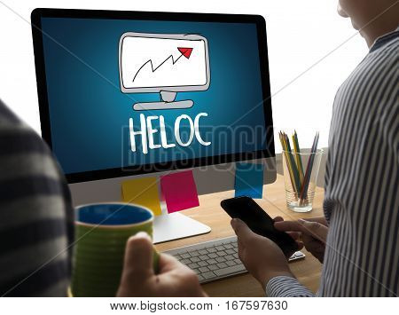 HELOC (Home Equity Line of Credit) anxiety, bank, bankrupt