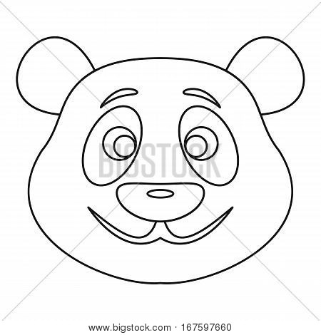 Panda bear icon. Outline illustration of panda bear vector icon for web
