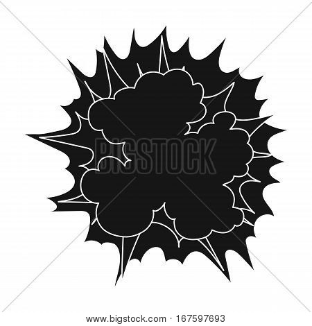 Explosion icon in black design isolated on white background. Explosions symbol stock vector illustration. - stock vector