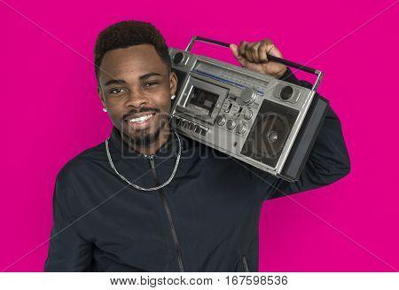 African Guy Studio Shoot Portrait People Race