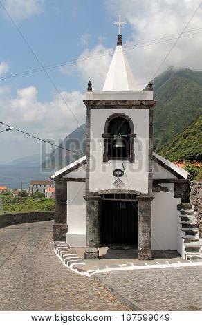 Church of the island of Sao Jorge. Azores, Portugal