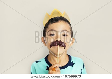 Little Boy Moustache Crown Concept