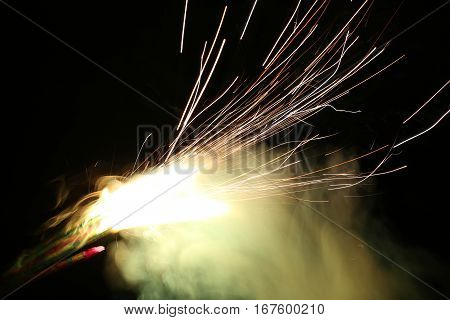 Beautiful Fireworks Lines