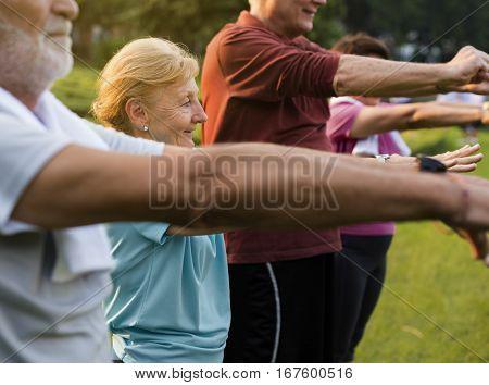 Senior Adult Exercise Fitness Strength