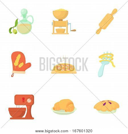 Cakes icons set. Cartoon illustration of 9 cakes vector icons for web