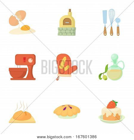 Patisserie icons set. Cartoon illustration of 9 patisserie vector icons for web