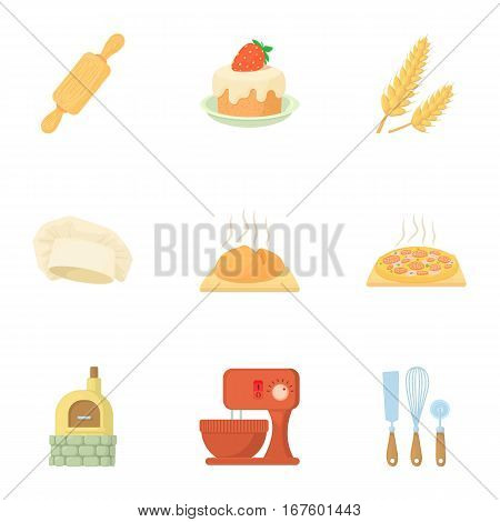 Bakery icons set. Cartoon illustration of 9 bakery vector icons for web