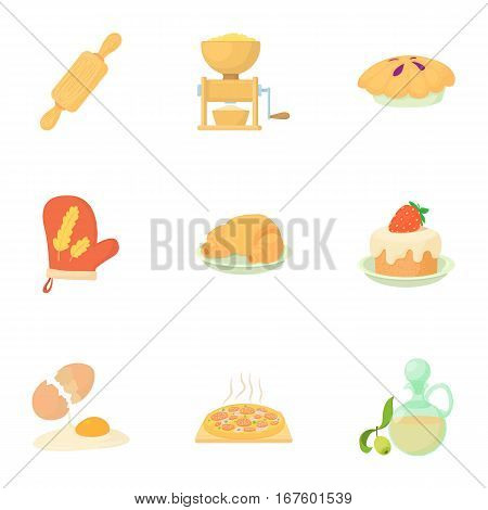 Sweet pastries icons set. Cartoon illustration of 9 sweet pastries vector icons for web