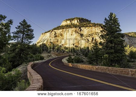 Road Leading to Zion National Park in Utah